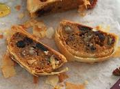 Strudel sucré butternut cranberries noix pécan