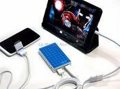 batterie externe double pour recharger simultanément smartphones tablettes tactiles