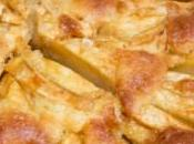 Gâteau pommes, caramel perles sucre
