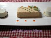 Terrine saumon, nougats Saint-Jacques gaspacho poivrons