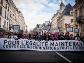 Manifestation pour mariage tous, Paris.