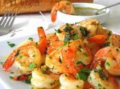 Crevettes sautées persil