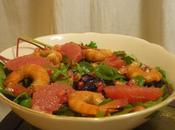 Salade grenade pamplemousse crevettes