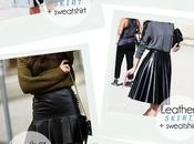 look *LEATHER SKIRT***