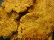 Galettes poireaux farine pois chiche bas) Tortitas puerros harina garbanzos bajos)