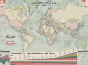 Infographie réseau Internet intercontinental