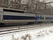 Trains sous neige...