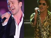 Justin Timberlake Bruno Mars performent Allemagne