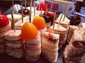 RETOUR VERS MARDI (mardi 2012) Amuse bouche sardine panées, salade pointes d'asperges Ananas roti caramel d'agrumes