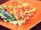 Salade mangue carotte saveur asiatique