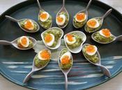 Bouchées oeuf cailles mollet guacamole Soft-boiled quail eggs appetizers