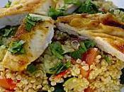Salade quinoa poulet légumes croquants