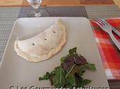 Chaussons végétariens farcis riz, poireaux, olives câpres