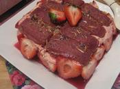 Fraisier biscuits roses Reims, rose l'hibiscus