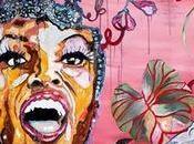Brésil Favelas, peintures installation Mauricio Oliveira