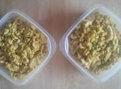Poulet coquillettes petits pois curry