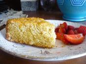Gâteau couscous, huile d'olive citron confit (vegan)