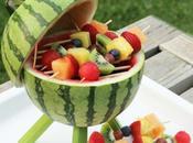 DIY: pastèque mini grill pour brochettes fruits!