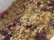 Crumble miel cerises