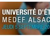 Alsace, Avenir, Audace seront programme 1ère Université Medef Alsace Strasbourg