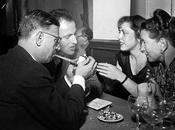 Jean-Paul Sartre, Simone Beauvoir, Boris Vian femme Michelle, Paris 1952... Comme nous étions! (Photo)