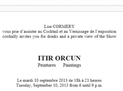 Galerie Lise CORMERY COMMUNICATION exposition Itir ORCUN Gilles