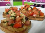 Bruschetta tomate mozzarella façon