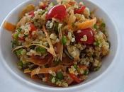 Boulgour, légumes, gingembre graines