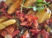 Pommes Terre, Roqette bacon cuits vinaigre