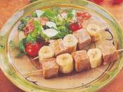 Brochettes thon rouge banane ventrêche roulée épices Basques
