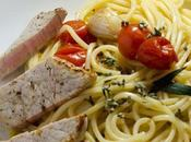 Veau Linguine tomates-cerises armoise