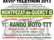Rando Moto Téléthon MORBAC (82) décembre 2013
