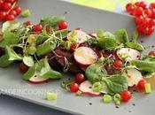 Salade betterave radis sauce miel l'orange