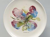 Assiette porcelaine peinte