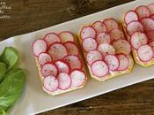 Tartines radis roses cream-cheese