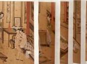 Album érotique chinois orné aquarelles libres soie.