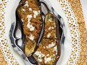 Aubergines farcies falafels sauce sésame