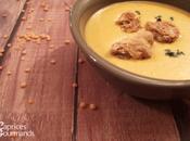 Soupe lentilles corail croûtons gingembre