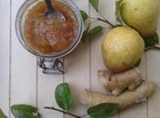 Confiture poires miel d'acacia gingembre