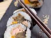 Maki Sushi Ginger Beer, aubergines Cola, saumon