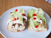 Ciabatta champignon, concombre chèvre