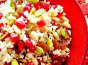 RECETTE D'ANNEE salade boulghour pistaches grenades