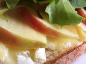 """Aujourd'hui, j'ai testé –Calendrier l'Avent (24) """"Tartines pomme-brie"""""""