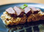 Filet bœuf grillé, cèpes l'huile truffe