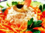 Céleri rémoulade carotte concombre salade