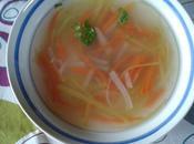 Bouillon vermicelles légumes
