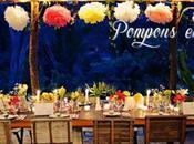 Fleurs papier pour décorations fête