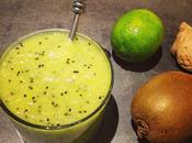 Potion vitaminée kiwi, gingembre, citron vert miel
