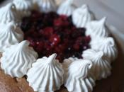 Dessert Saint-Valentin fruits rouges, amande meringue