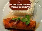 Cabillaud jambon Bayonne coulis tomate